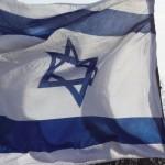 Israel Fahne während der Gedenkfeier