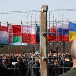 Blick auf die Gedenkfeier in Buchenwald