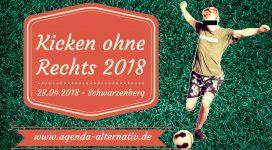 Fußballturnier Kicken ohne Rechts 2018 in Schwarzenberg